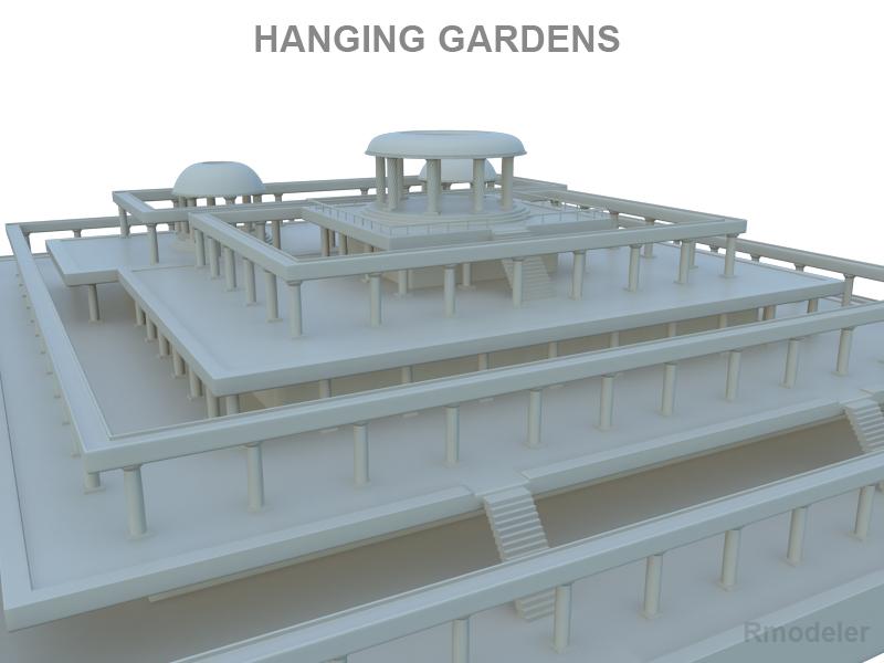 hanging gardens of babylon 3d model 3ds fbx c4d lwo ma mb hrc xsi obj 121022