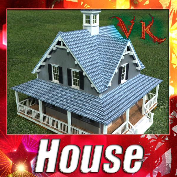 house with vray and scanline materials 3d model 3ds max fbx obj 129818