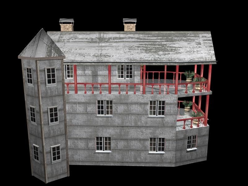 Fully Textured LowPoly House 100 ( 269.67KB jpg by gorandodic )