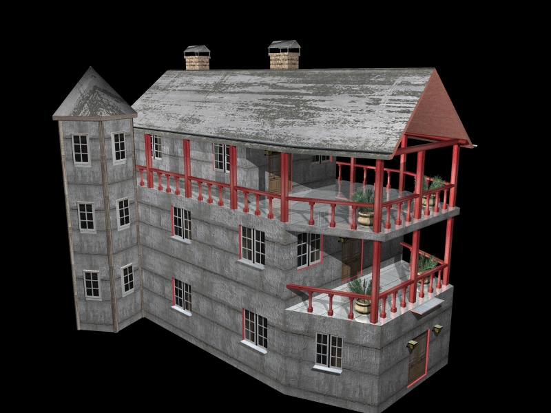 Fully Textured LowPoly House 100 ( 249.76KB jpg by gorandodic )
