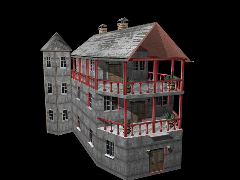 Fully Textured LowPoly House 100 ( 199.19KB jpg by gorandodic )