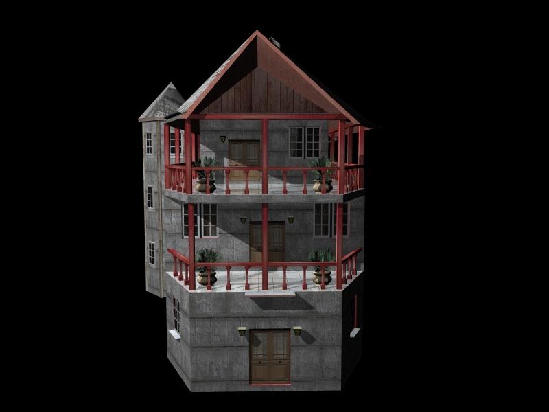 Fully Textured LowPoly House 100 ( 136.7KB jpg by gorandodic )