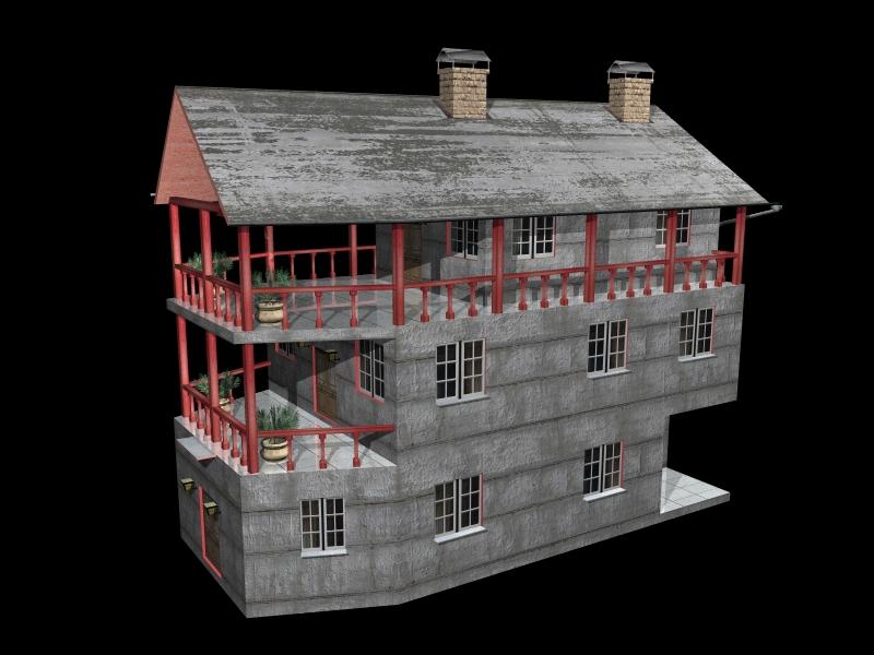 Fully Textured LowPoly House 100 ( 227.68KB jpg by gorandodic )