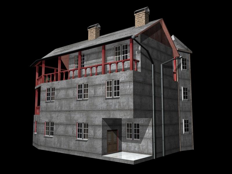 Fully Textured LowPoly House 100 ( 212.33KB jpg by gorandodic )