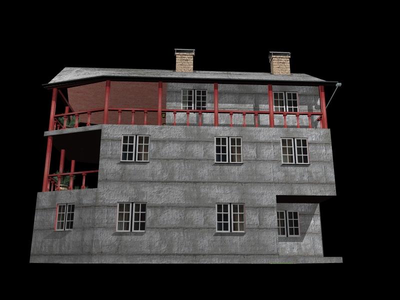 Fully Textured LowPoly House 100 ( 210.53KB jpg by gorandodic )