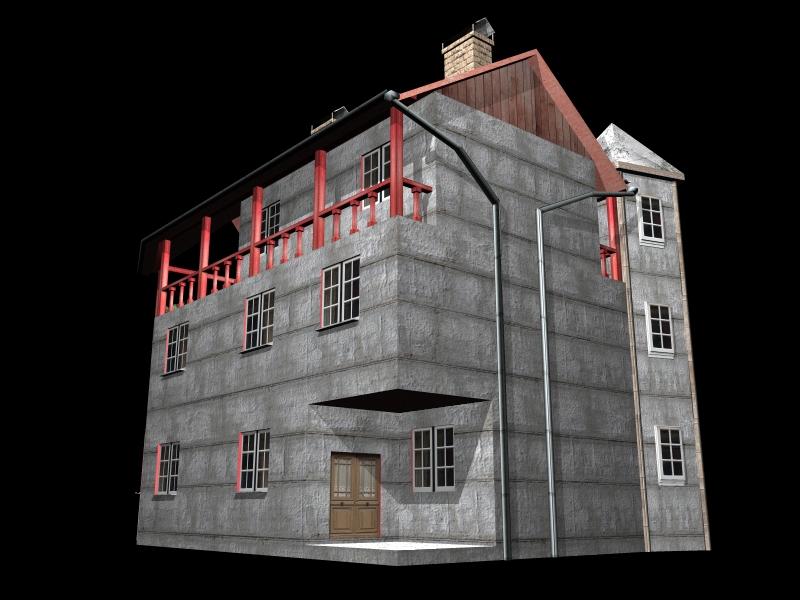 Fully Textured LowPoly House 100 ( 238.36KB jpg by gorandodic )