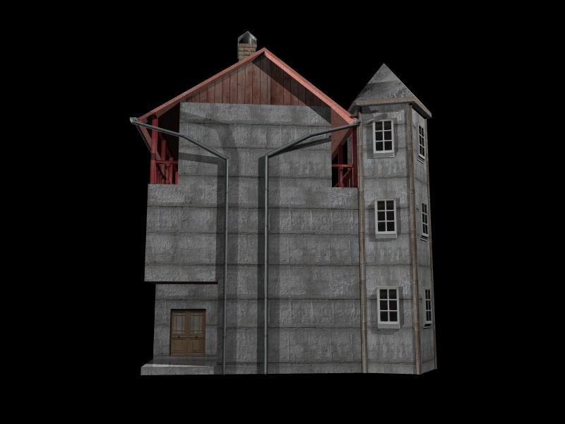 Fully Textured LowPoly House 100 ( 153.34KB jpg by gorandodic )