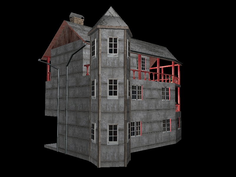 Fully Textured LowPoly House 100 ( 200.14KB jpg by gorandodic )