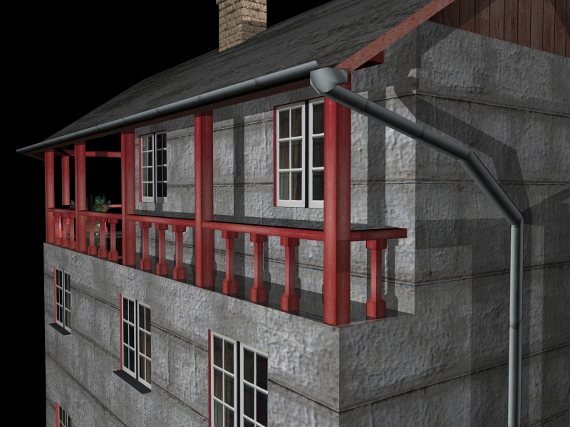 Fully Textured LowPoly House 100 ( 311.96KB jpg by gorandodic )