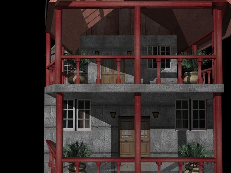Fully Textured LowPoly House 100 ( 287.5KB jpg by gorandodic )