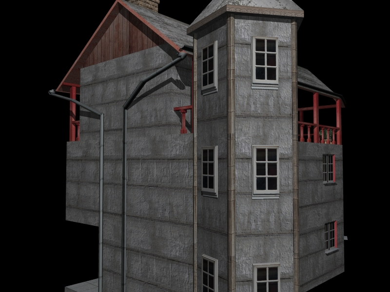 Fully Textured LowPoly House 100 ( 246.38KB jpg by gorandodic )