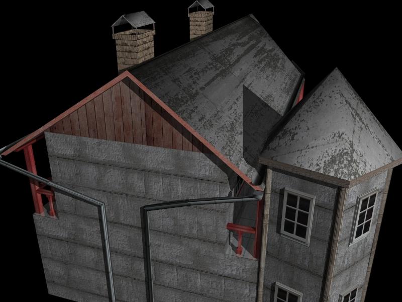 Fully Textured LowPoly House 100 ( 271.38KB jpg by gorandodic )
