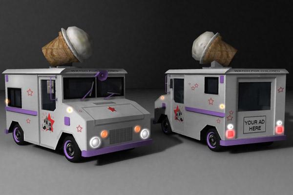 icecream truck 3d model lwo 159214