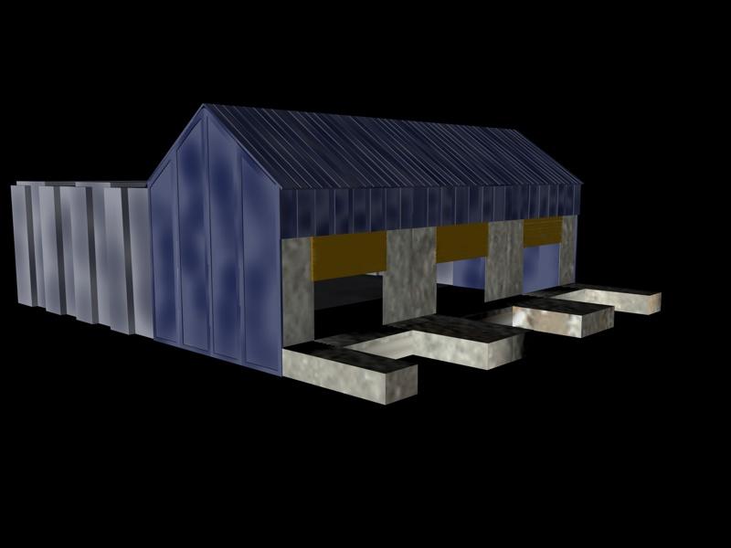 industrial buildings pack 3d model fbx 159332