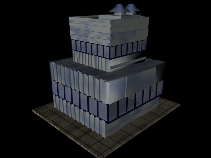 industrial buildings pack 3d model fbx 159333