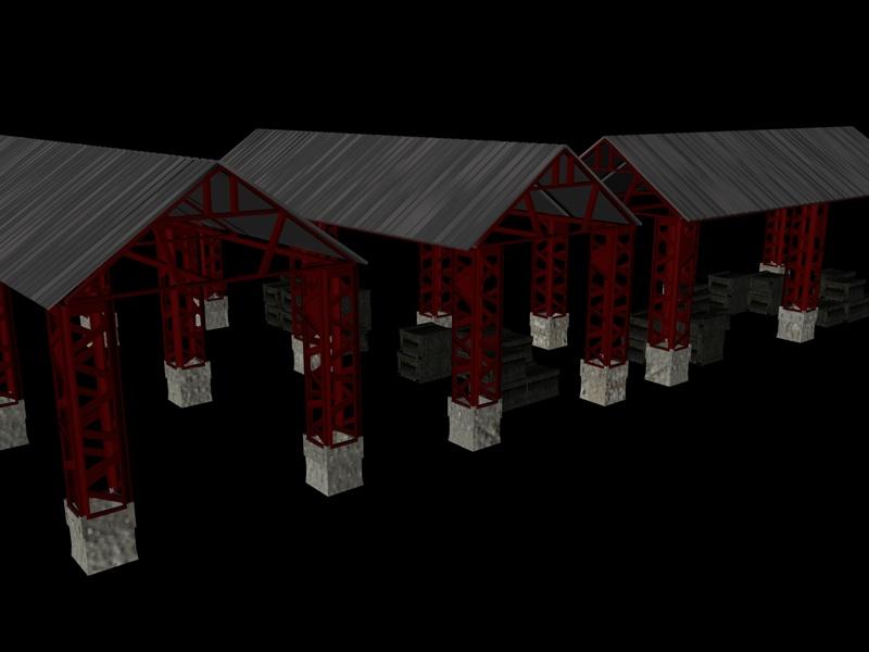 industrial buildings pack 3d model fbx 159336