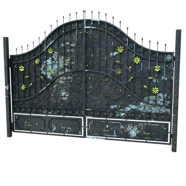 iron gate 02 3d model max fbx obj 131971