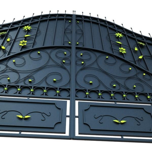 iron gate 02 3d model max fbx obj 131978
