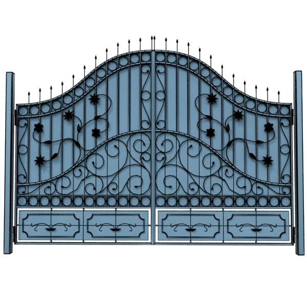 iron gate 02 3d model max fbx obj 131979