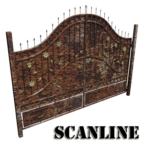 iron gate 02 3d model max fbx obj 131983