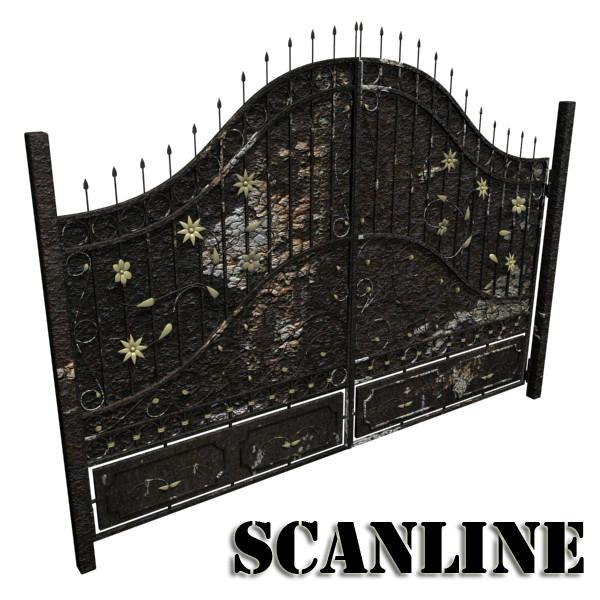 iron gate 02 3d model max fbx obj 131984