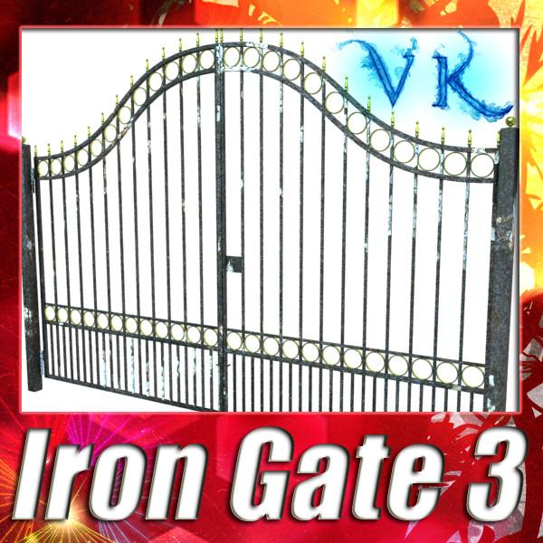 dzelzs vārti 03 3d modelis 3ds max fbx obj 131986