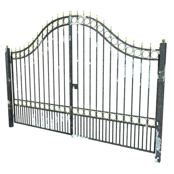 iron gate 03 3d model 3ds max fbx obj 131990