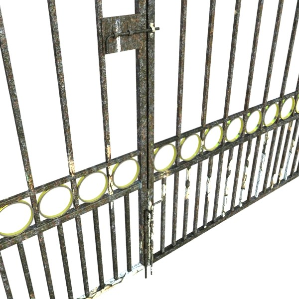 iron gate 03 3d model 3ds max fbx obj 131991