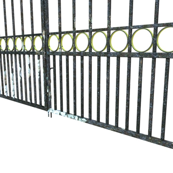 iron gate 03 3d model 3ds max fbx obj 131993