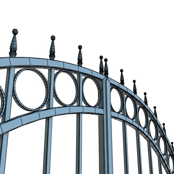 iron gate 03 3d model 3ds max fbx obj 131999