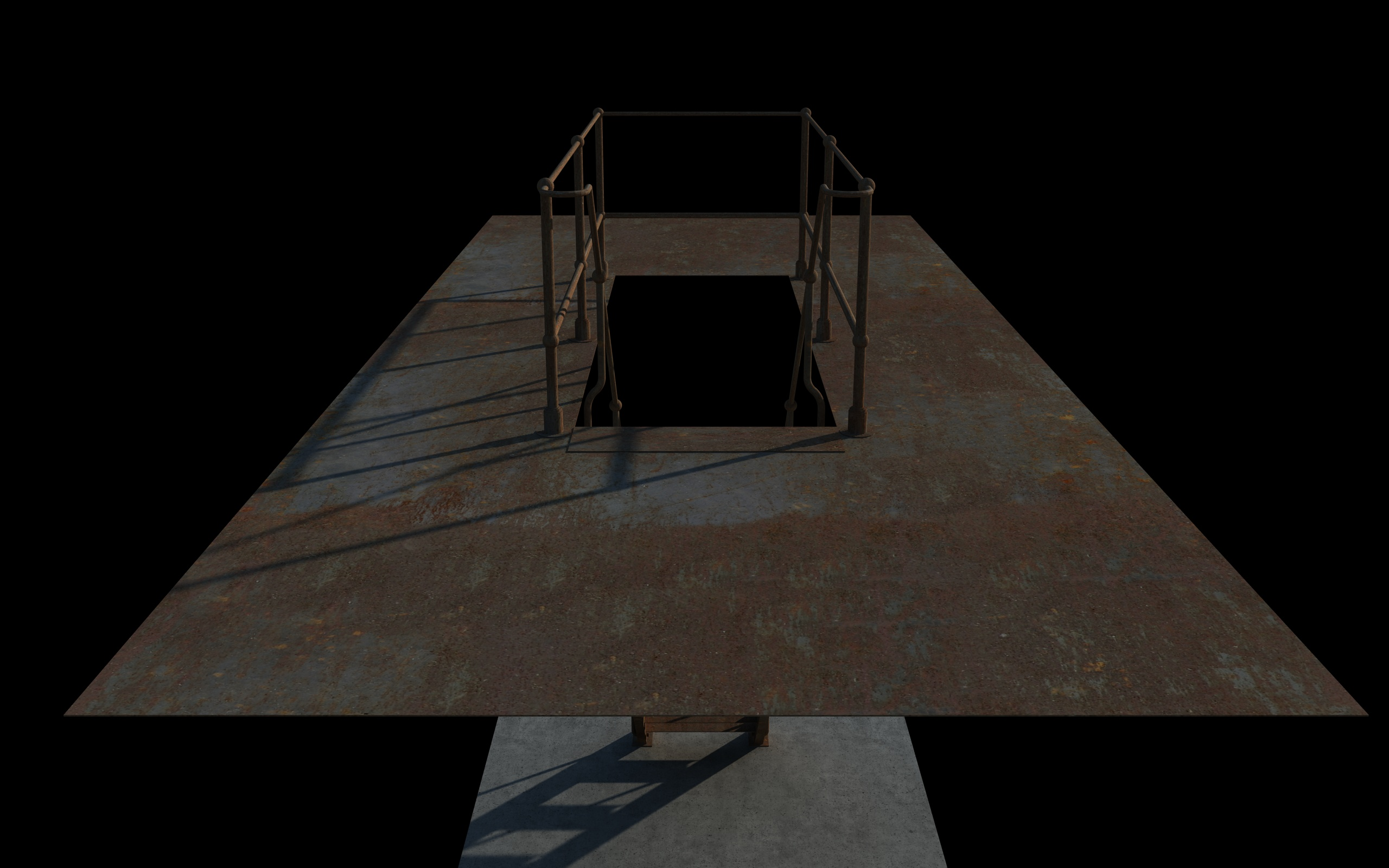 iron stair 3d obj 3d model 3ds dxf c4d skp obj 148389