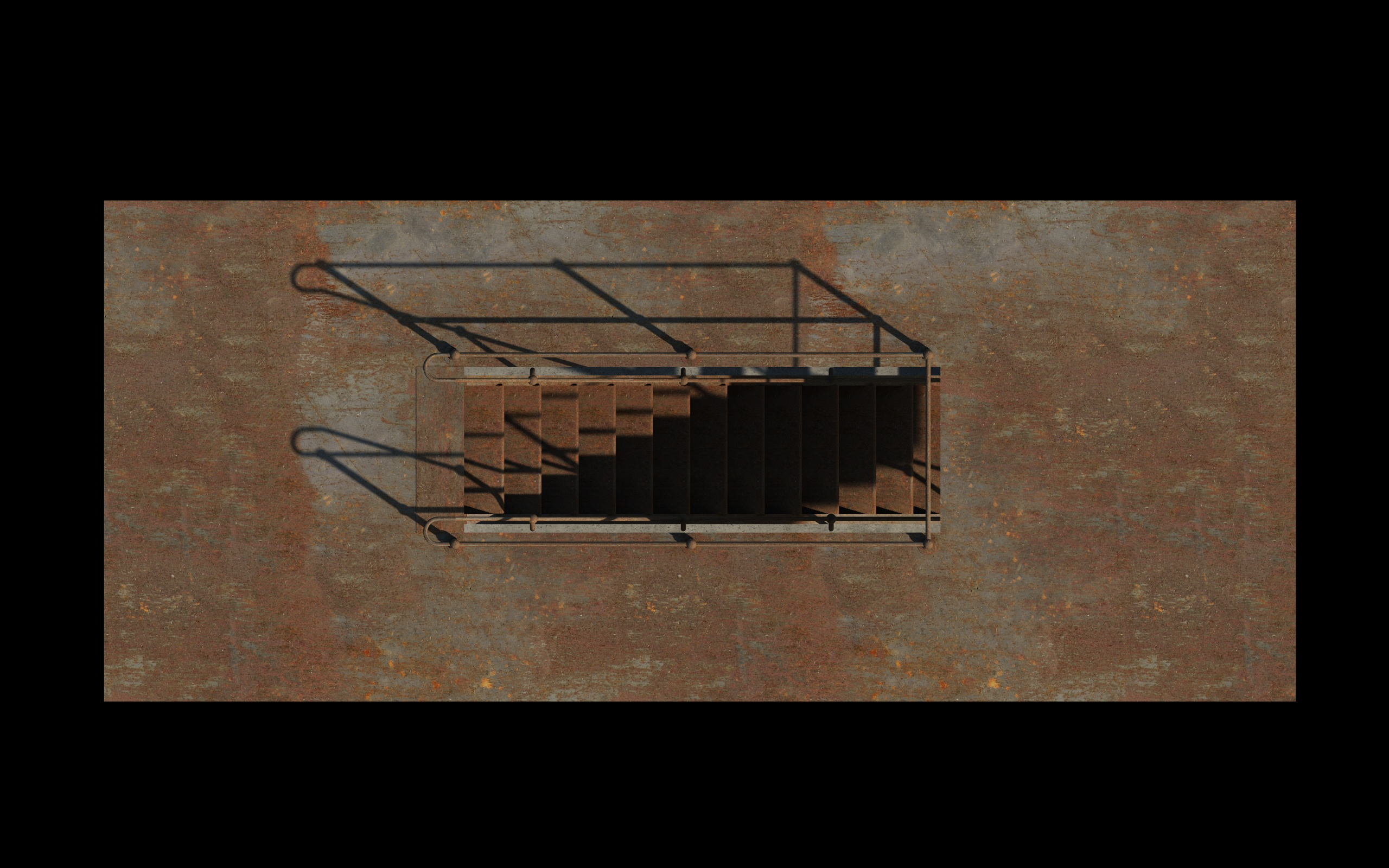 iron stair 3d obj 3d model 3ds dxf c4d skp obj 148392