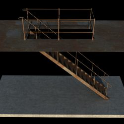 Iron Stair 3D Obj Model ( 629.63KB jpg by Souto )