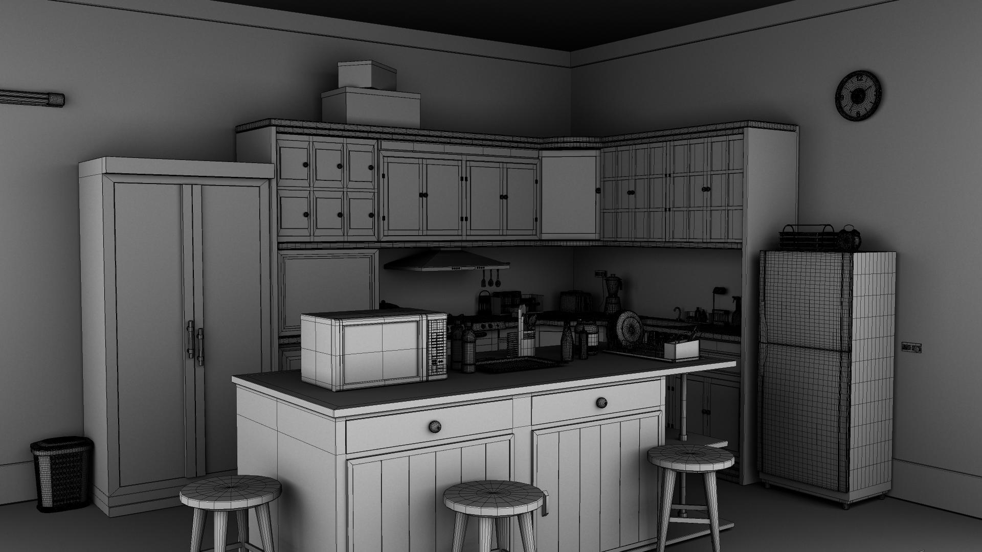 Kitchen 3D Model | FlatPyramid on Model Kitchen Picture  id=45008