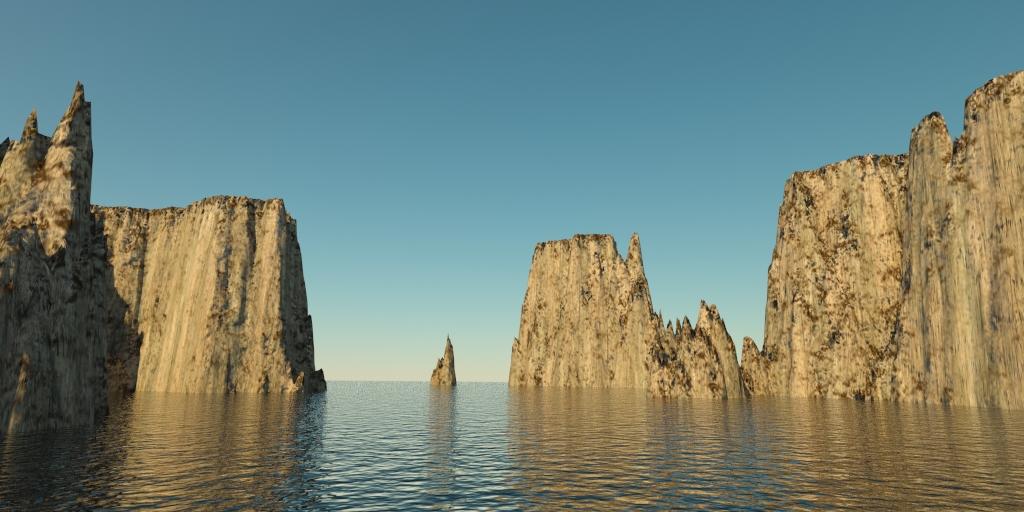 táj - sziklás szigetek 01 3d modell 3ds max 141827