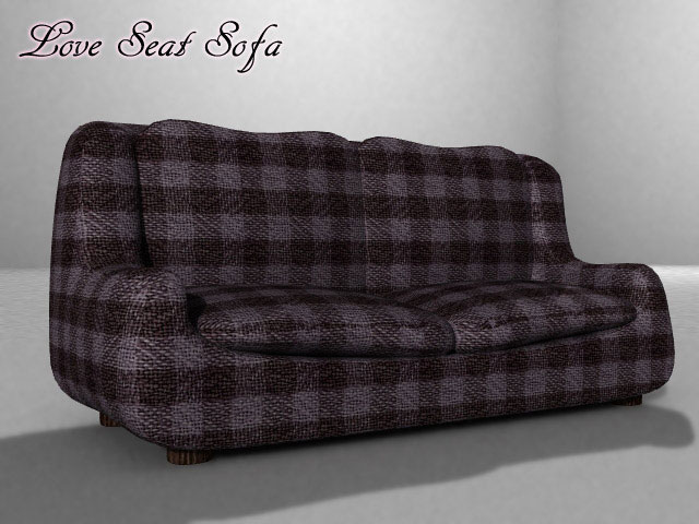 love seat sofa (also poser version) 3d model pz3 pp2 obj 154652