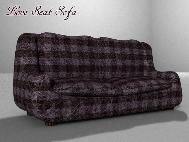 love seat seat (din poser version) 3d model pz3 pp2 obj 154652