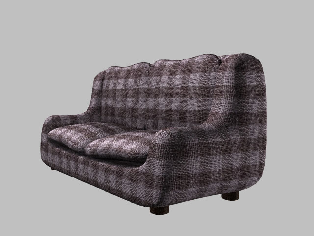 love seat sofa (also poser version) 3d model pz3 pp2 obj 154654