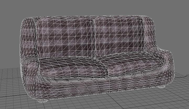 love seat sofa (also poser version) 3d model pz3 pp2 obj 154655