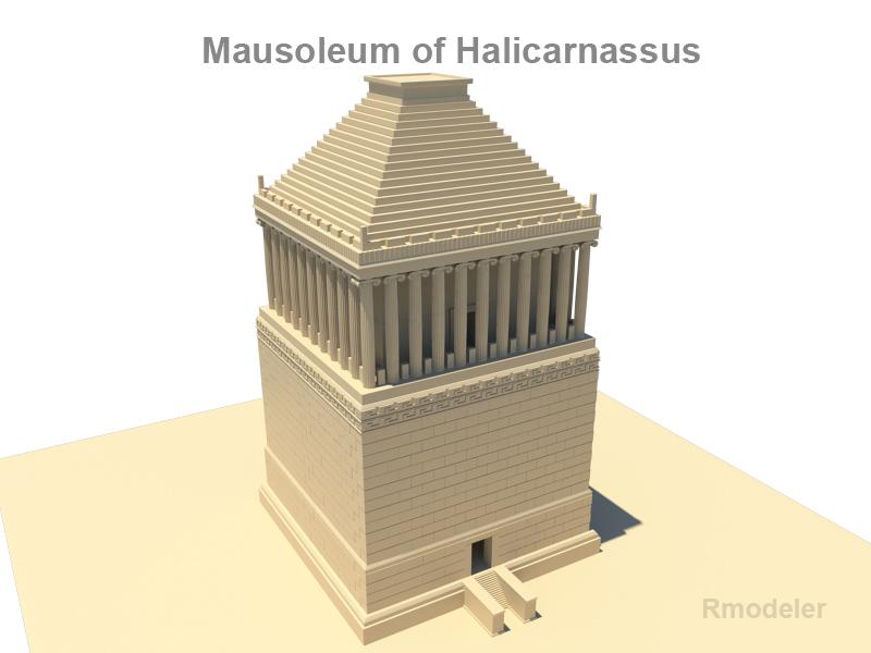 mausoleum of halicarnassus 3d model 3ds fbx c4d lwo ma mb obj 119388