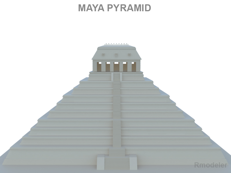 maya piramid 3d model 3ds fbx c4d lwo ma mb hrc xsi obj 121024