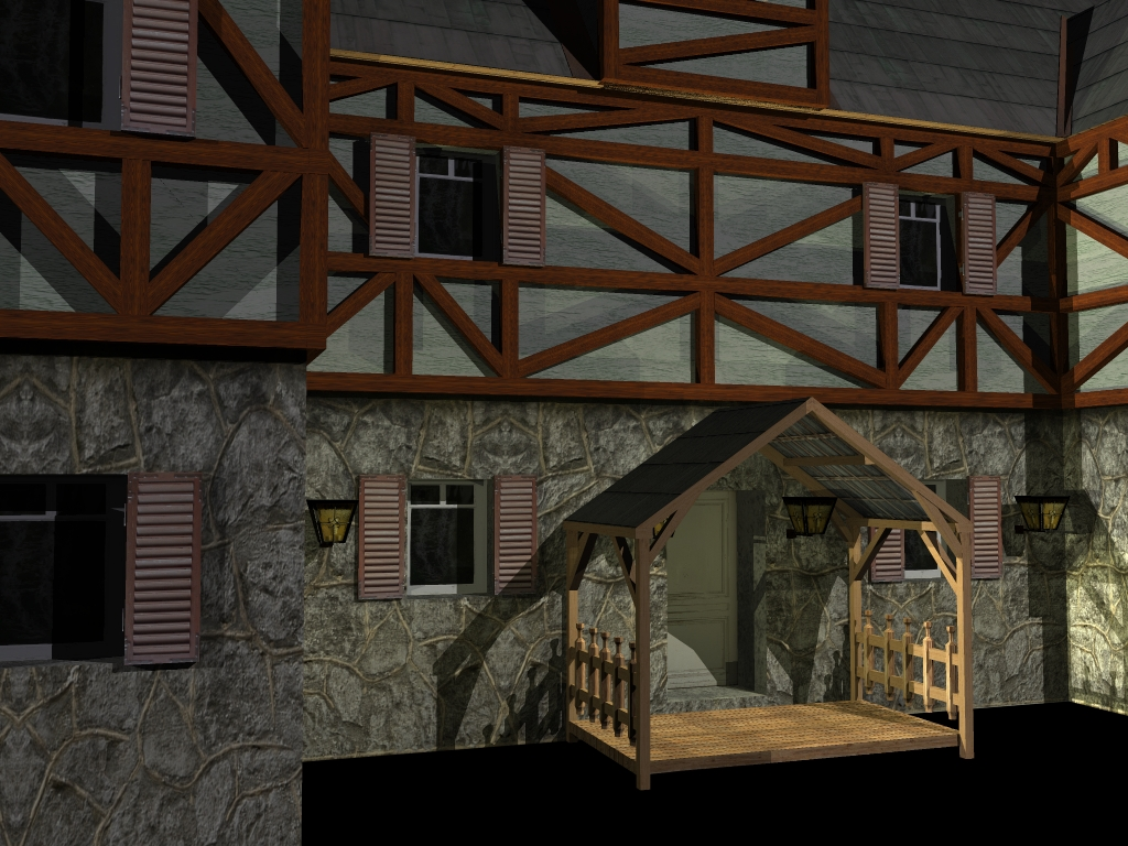 medieval house 2 3d model 3ds 163909