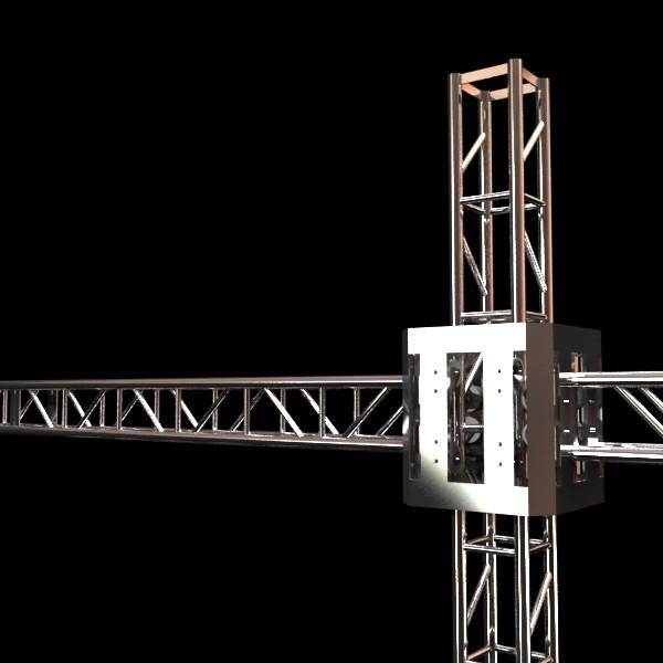 metal truss system high detail 3d model 3ds max fbx obj 130990