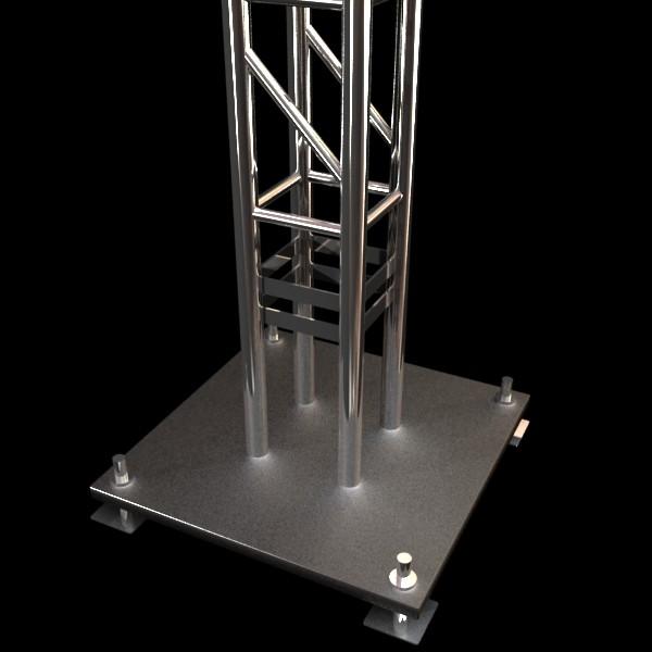metal truss system high detail 3d model 3ds max fbx obj 130991