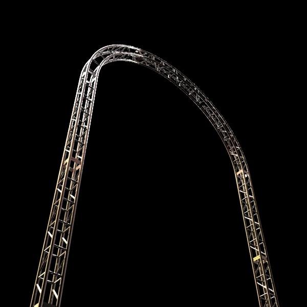 metal truss system high detail 3d model 3ds max fbx obj 130992
