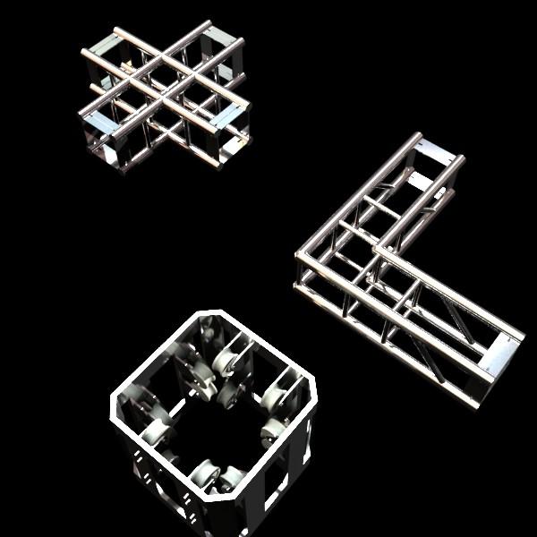 metal truss system high detail 3d model 3ds max fbx obj 130995