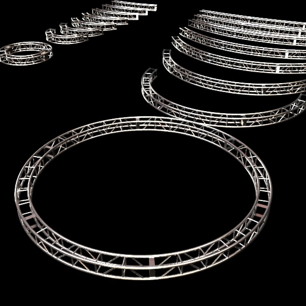 metal truss system high detail 3d model 3ds max fbx obj 130998