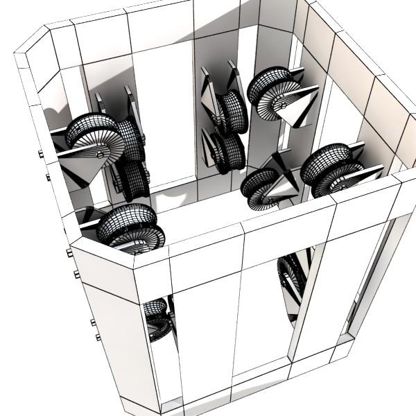 metal truss system high detail 3d model 3ds max fbx obj 131002