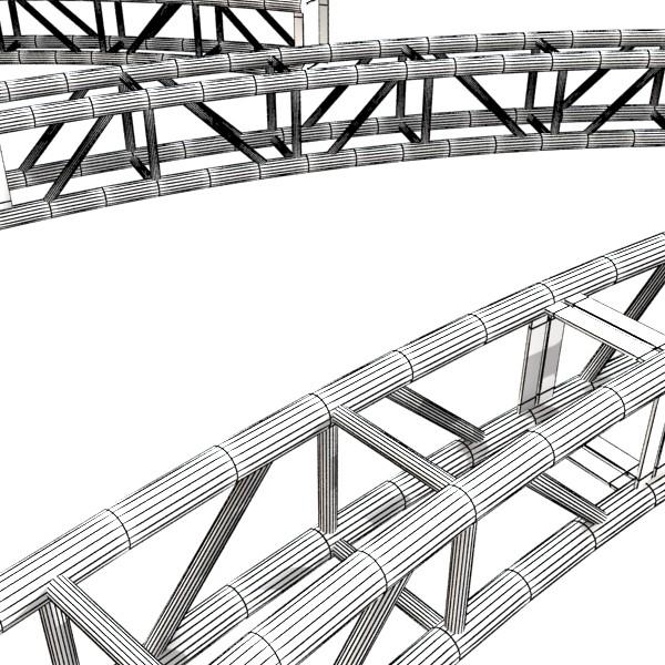 metal truss system high detail 3d model 3ds max fbx obj 131004