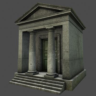 monument low poly classical roman temple shrine 3d model 3ds dxf fbx c4d texture obj 146438